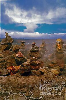 Hawaii Volcanoes Nat Park Kilauea vents altars big island Hawaii by Tom Jelen
