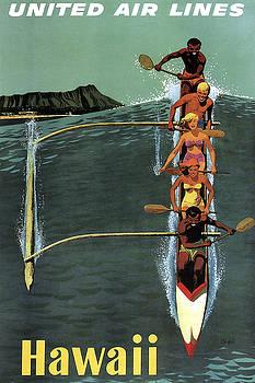 Daniel Hagerman - HAWAII WAIKIKI TRAVEL POSTER  1950s