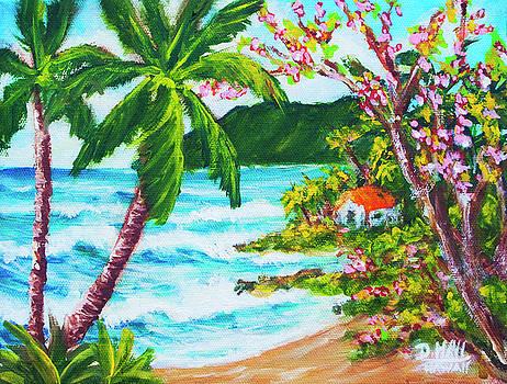 Hawaiian Coastline, East side of Oahu #464 by Donald k Hall