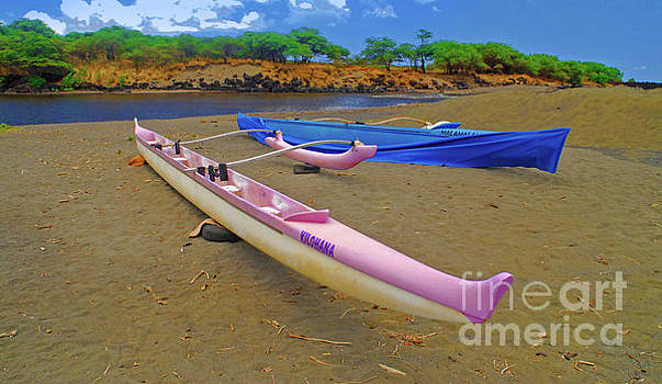 Hawaiian Outigger Canoes Ver 1 by Larry Mulvehill