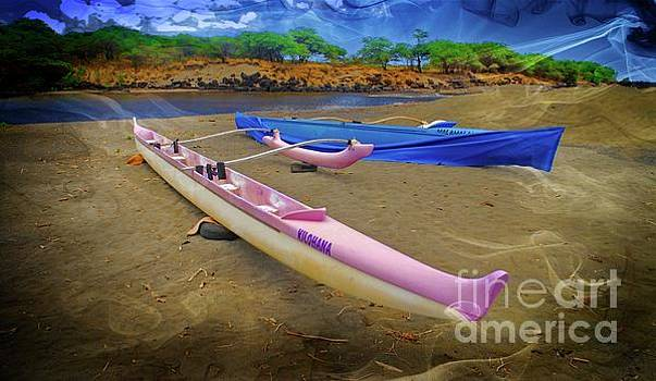 Hawaiian Outigger Canoes Ver 2 by Larry Mulvehill