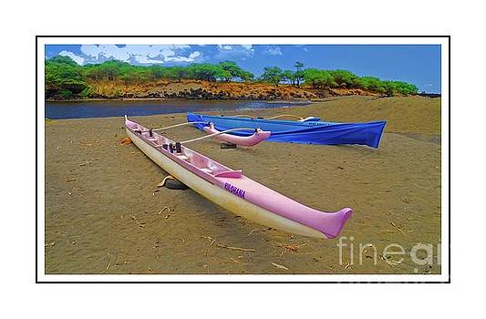 Hawaiian Outigger Canoes Ver 4 by Larry Mulvehill