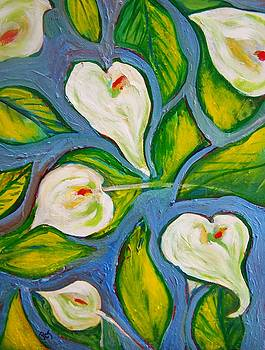 Hawaiian Print with Calla Lilies by Patricia Taylor