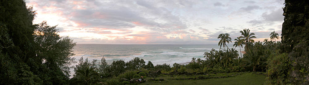 Hawaiian sunset panoramic ocean vista by Jeff Schomay