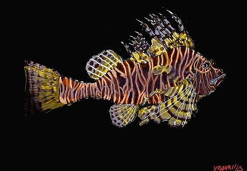 Hawaiian Turkey Fish by Mike Moss