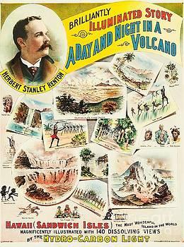 Peter Ogden - Hawaiian Volcano Magic Lantern Show Sign 1891