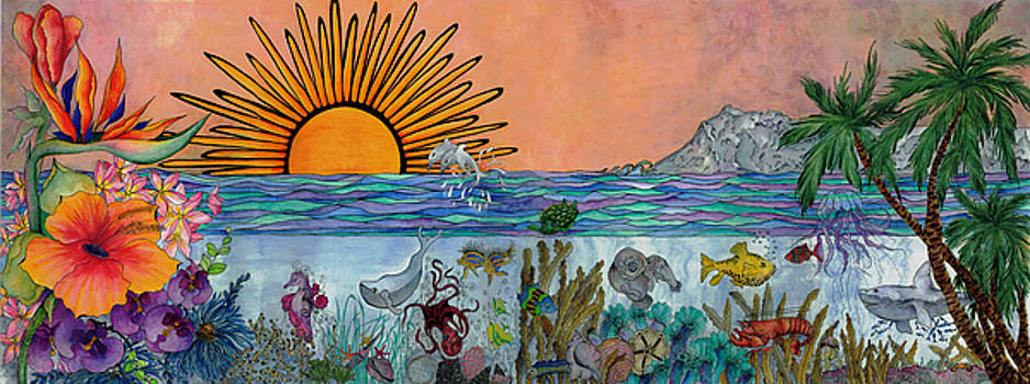 Ocean Sunrise by Meldra Driscoll