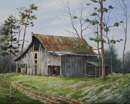 Hawks At The Barn by Judy Bradley