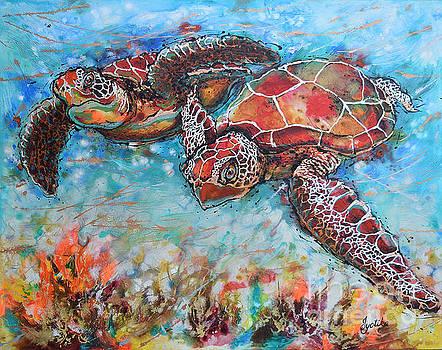 Hawksbill Sea Turtles  by Jyotika Shroff