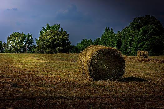 Hay Bales in the Landscape by Barry Jones