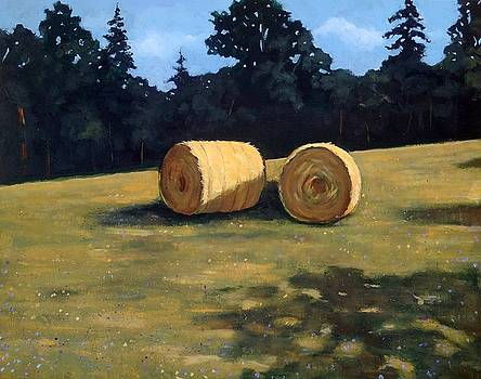 Joyce Geleynse - Hay Bales in the Morning