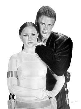 Hayden Christensen and Natalie Portman as Anakin and Padme by Nicole I Hamilton