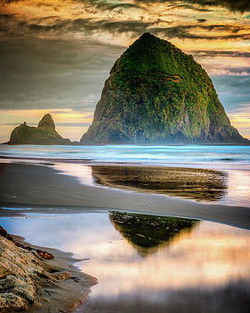 Haystack at Sunset by Chris McKenna