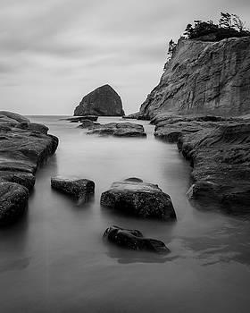 Jedediah Hohf - Haystack Rock in BW