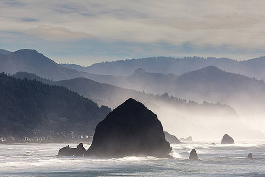 Haystack Rock on the Oregon Coast in Cannon Beach by David Gn