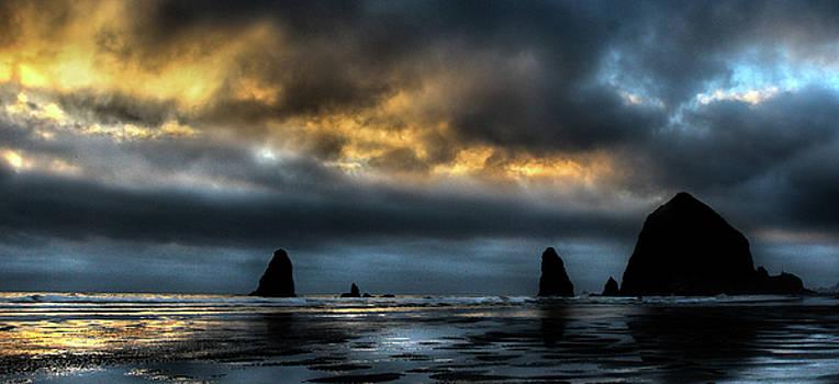 Haystack Rock Reflections by Deborah Jahier