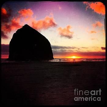Haystack Rock Sunset by Beth Erickson