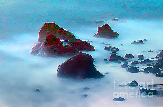 Haystack Rocks along Bodega, Sonoma County, California by Wernher Krutein