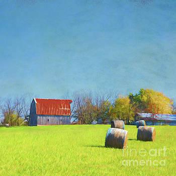 Haystacks by Elena Nosyreva