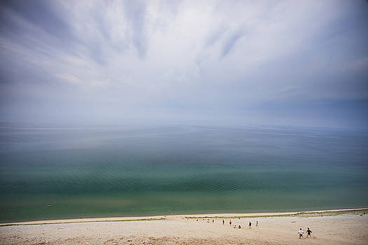 Hazy day at Sleeping Bear Dunes by Adam Romanowicz