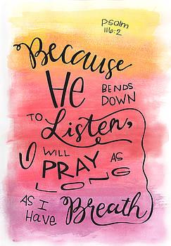 He Listens by Nancy Ingersoll