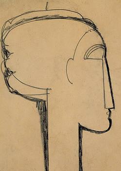 Amedeo Modigliani - Head in Profile