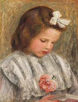 Pierre Auguste Renoir - Head of a Girl, Tete de fillette