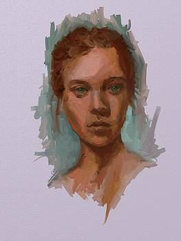 Head of a Woman Study by Brian Kardell