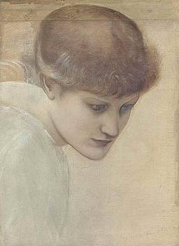 Head study of Dorothy by Edward Coley