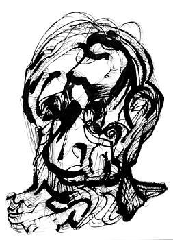 Head with Hair by Daniel Schubarth