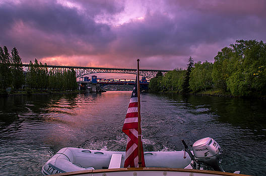 Heading Out From Lake Union by Michael J Bauer