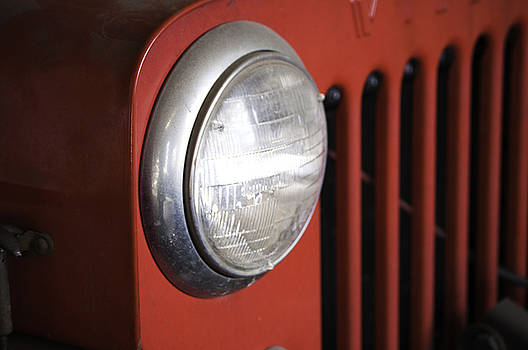 Headlight and Grill of Old Willy by Samantha Boehnke
