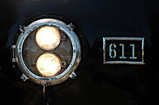 Headlight on a Train - Headlamp on a Steam Engine by Matt Plyler