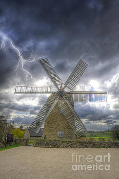 Heage Windmill storm by Steev Stamford