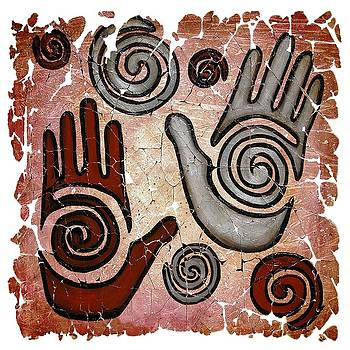Healing Hands Fresco by OLena Art Brand