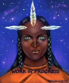 Healing Spirit WIP by Carmen Cordova
