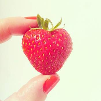 Health Kick! #strawberry #red #foodie by Jennie Davies
