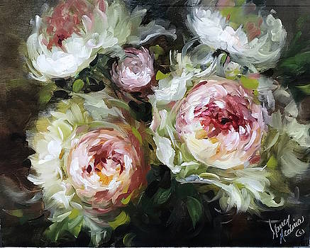 Heart and Soul Peonies by Nancy Medina