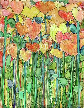 Heart Bloomies 1 - Golden by Carol Cavalaris