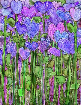 Heart Bloomies 1 - Purple by Carol Cavalaris