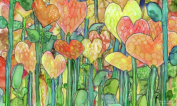 Heart Bloomies 3 - Golden by Carol Cavalaris