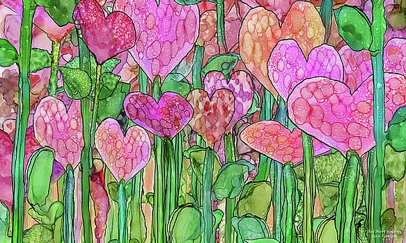 Heart Bloomies 3 - Pink and Red by Carol Cavalaris