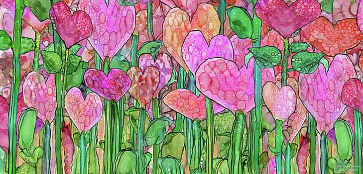 Heart Bloomies 4 - Pink and Red by Carol Cavalaris