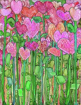 Heart Bloomies 1 - Pink and Red by Carol Cavalaris