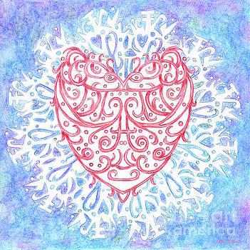 Heart in a Snowflake II by Lise Winne