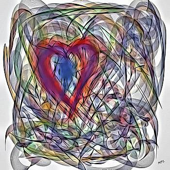 Heart In Motion Abstract by Marian Palucci-Lonzetta