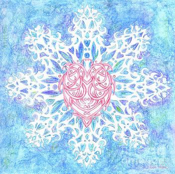 Heart In Snowflake by Lise Winne