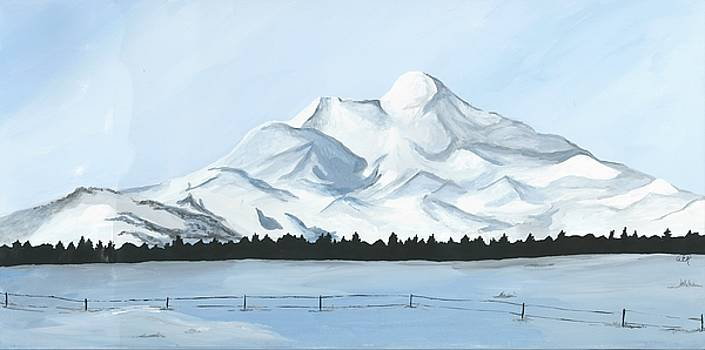 Heart Mountain in Winter by Anne Hockenberry