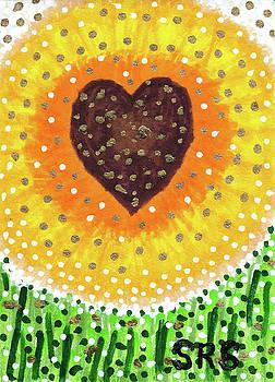 heART Of A Sunflower by Susan Schanerman