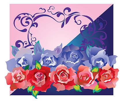 Ariadna De Raadt - heart post card